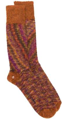 YMC watercolour print socks