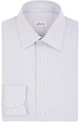 Brioni Men's Micro-Checked Cotton Dress Shirt