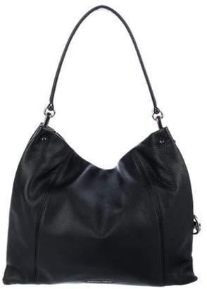 Michael Kors Grained Leather Hobo Black Grained Leather Hobo