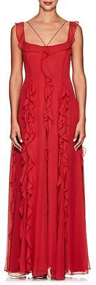 Prabal Gurung Women's Ruffled Silk Chiffon Gown