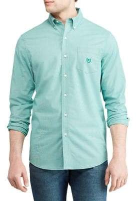 Chaps Big Tall Stretch Long-Sleeve Button-Down Shirt