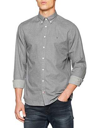 1c8f96ad3 at Amazon.co.uk · Tommy Hilfiger Men's Heather Dot Print Shirt Casual,  Multicolour (Silver Fog/Sky Captain
