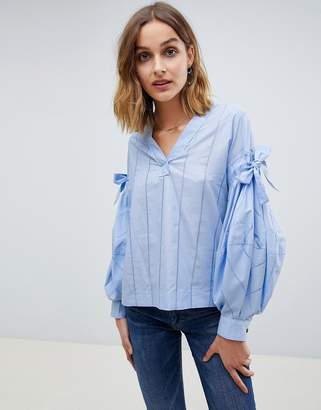 Maison Scotch bow sleeve blouse