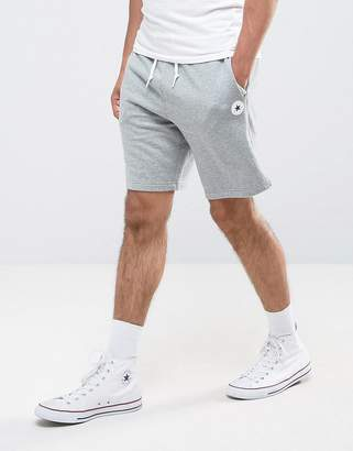 Converse Chuck Patch Shorts In Gray 10004633-A03