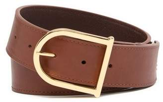 Vince Camuto Smooth Leather Signature Belt