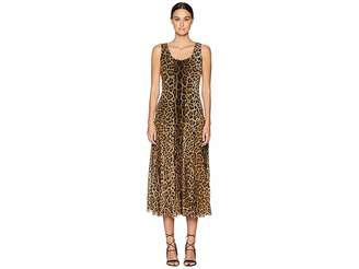 Fuzzi Long Tank Dress in Animal Print