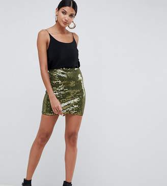 Asos Tall DESIGN Tall mini sequin skirt