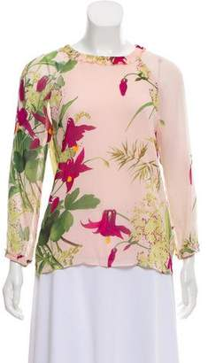 Ted Baker Floral Print Long Sleeve Top