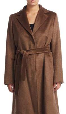 Marina Rinaldi Marina Rinaldi, Plus Size Belted Notch Coat