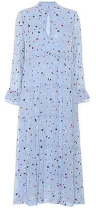 Ganni Dainty Georgette floral midi dress