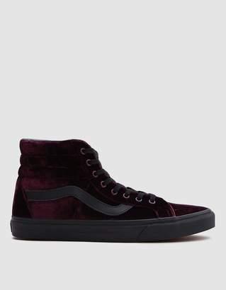 Vans SK8-Hi Velvet Reissue Sneaker in Red/Black
