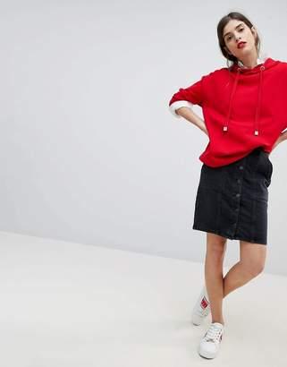 Esprit Denim Button Through Pencil Skirt