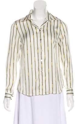 MICHAEL Michael Kors Long Sleeve Button-Up Blouse