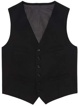 Banana Republic Solid Italian Wool Suit Vest