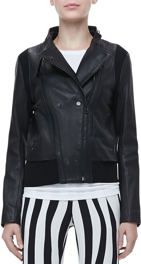 A.L.C. Saari Double-Snap Leather Jacket