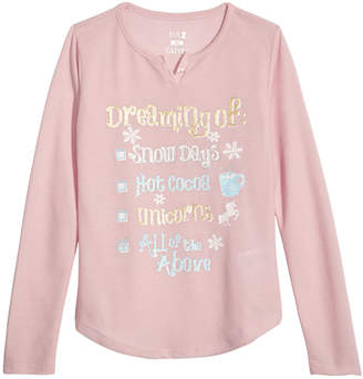 LTB Max & Olivia Little & Big Girls Graphic-Print Pajama Top