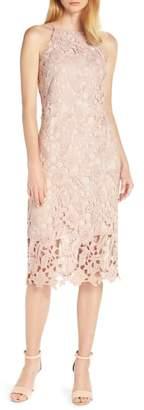 Sam Edelman Halter Top Lace Midi Dress