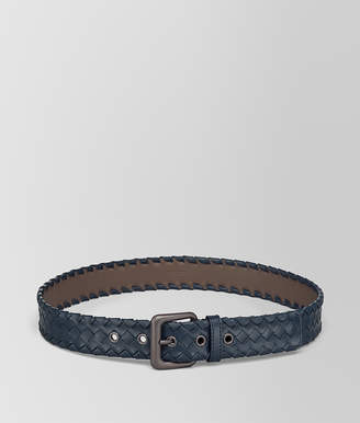 Bottega Veneta DENIM INTRECCIATO CALF BELT