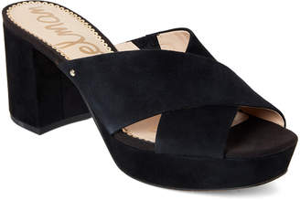 Sam Edelman Black Jayne Platform Block Heel Sandals