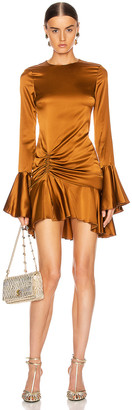 Caroline Constas Monique Mini Dress in Bronze | FWRD