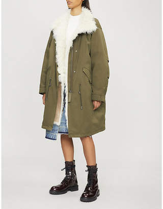 Yves Salomon ARMY Toscanna shearling-lined cotton and down-blend parka coat