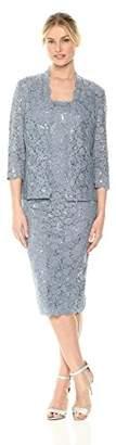 Alex Evenings Women's Tea Length Dress and Jacket (Petite and Regular Sizes)