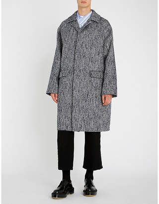Jil Sander Textured tweed overcoat