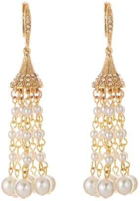 Oscar de la Renta Faux Pearl Tassel Earrings