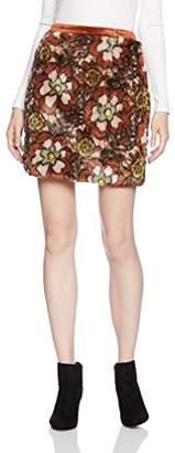 Lily Brown (リリー ブラウン) - (リリーブラウン) Lily Brown ジャガードファー台形スカート LWFS174040 58 BRW 0