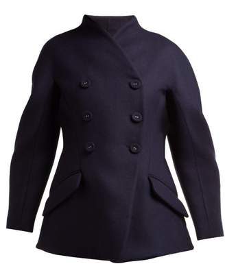 Proenza Schouler Double Breasted Wool And Cashmere Blend Jacket - Womens - Navy