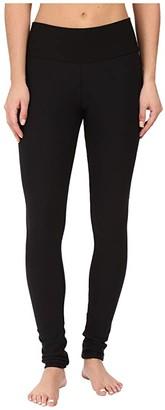 Plush Fleece-Lined Cotton Yoga Leggings with Hidden Pocket