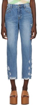 Sjyp Blue Side Destroyed Jeans