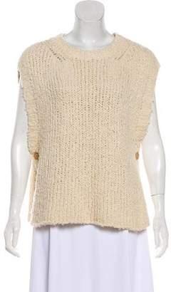Current/Elliott Sleeveless Open Knit Top