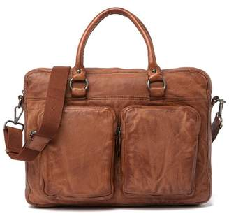 Frye Washed Attache Leather Messenger Bag