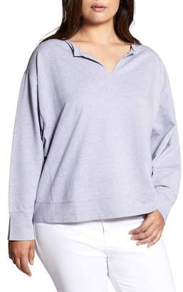 Sanctuary Breslin Split Neck Sweatshirt
