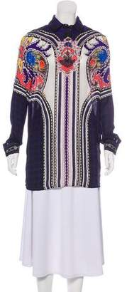 Mary Katrantzou Silk Long Sleeve Top