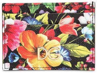Dolce & Gabbana Flower Print Leather Card Holder
