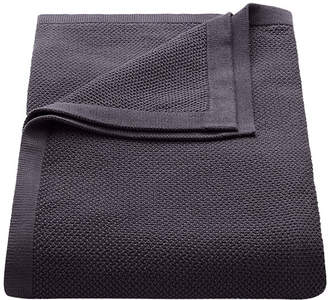 Flaxfield Linen Sala Lounge Charcoal Knitted Lounge Throw
