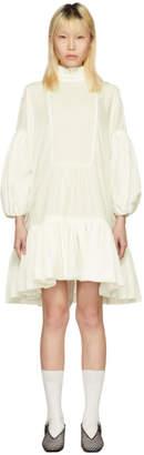 Cecilie Bahnsen SSENSE Exclusive White Velvet Belle Dress