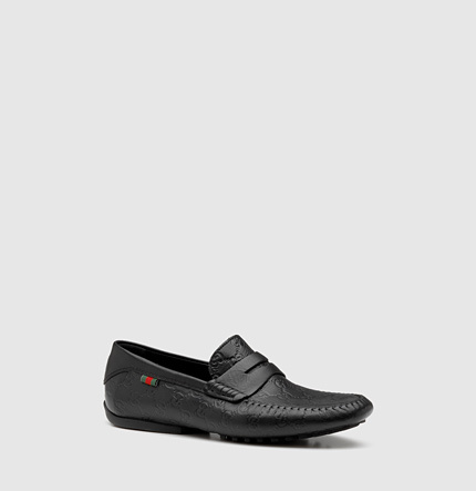 Gucci penny loafer driver with interlocking G.