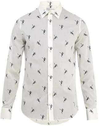 Alexander McQueen Dancing Skeleton-print cotton shirt