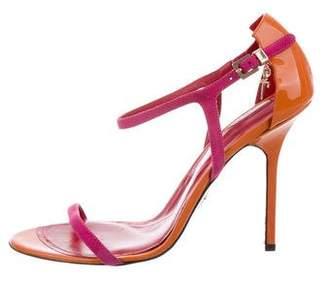 Cesare Paciotti Bicolor Suede Sandals