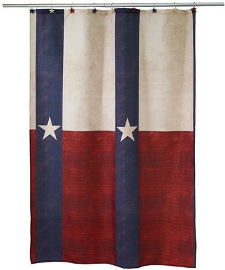 Texas Star Fabric Shower Curtain