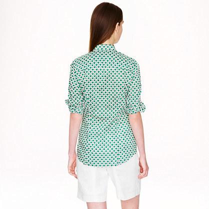 J.Crew Perfect shirt in honeypie print
