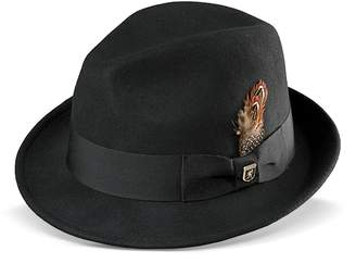 Stacy Adams Men's Wool Felt Pinched-Front Fedora