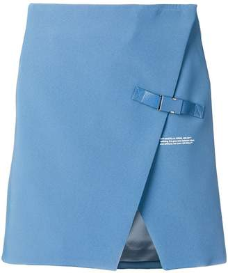 Off-White wrap-front miniskirt