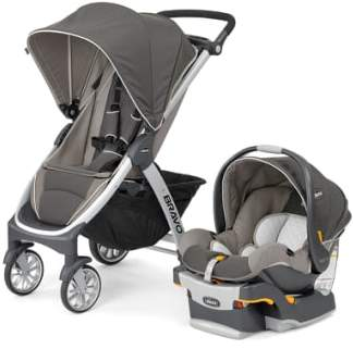 Chicco Bravo Trio Single Stroller & Car Seat Travel System