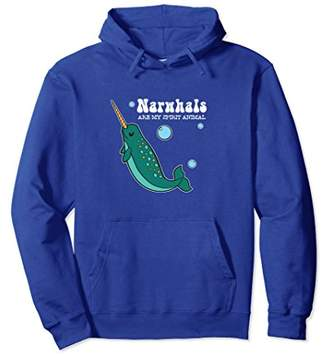 Narwhals Are My Spirit Animal Hoodie