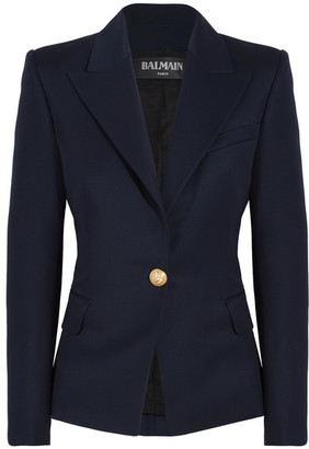 Balmain - Wool-twill Blazer - Navy $2,430 thestylecure.com