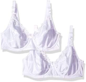 Hanes Women's Lace Trim Underwire Bra 2-Pack
